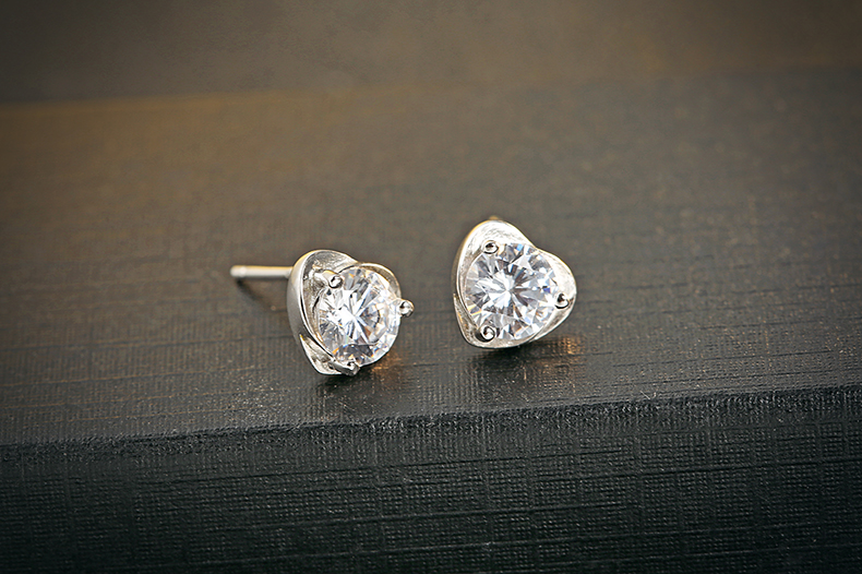 Evelyn Genuine 925 Sterling Silver Earrings